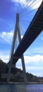 Dubrovniks Harfenbrücke Most Franja Tudmana