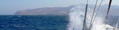 Meltemi-Fahrt bei Mykonos