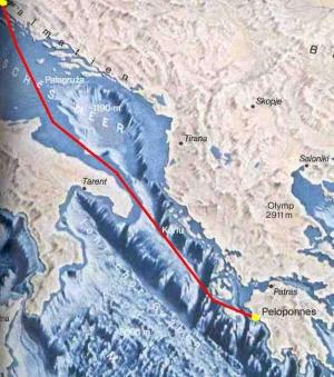 Die erste Etappe - Zadar nach Katakolon