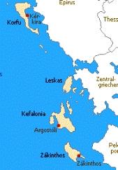 Ionische Inseln - das Zwischenziel in Nähe