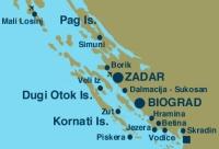 Entfernung zu Zadar