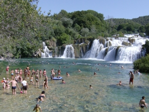 Skradinski bug - die unteren Krka Wasserfälle