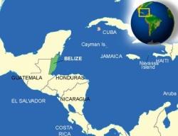 Lageplan BELIZE - Mittelamerika