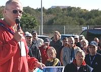 Regattaleiter 'Blondl' Schmidleitner beim BOC-Briefing
