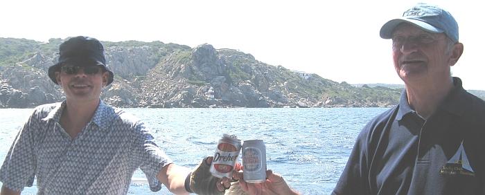Wachübergabe mit Bier