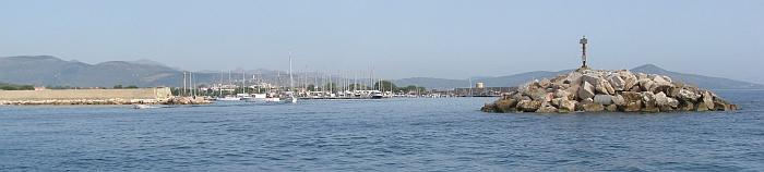 Ansteuerung der Marina La Caletta