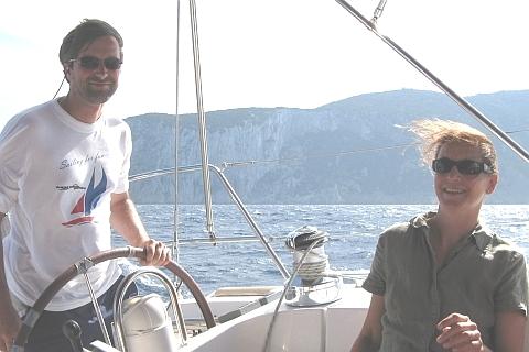 Skipper Josef ist stolz auf seine wind- und wellenfeste Vera