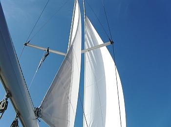 Blauer Himmel - weiße Segel !