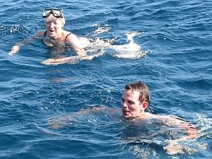 Karibisch türkise Schwimmverhältnisse
