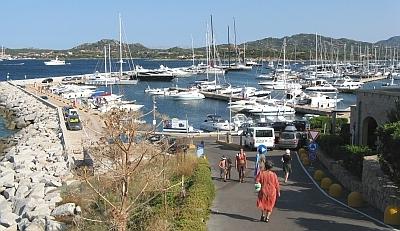 Schöner Blick über die Marina di Portisco