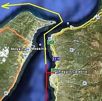Die Straße von Messina !