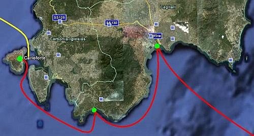 Die Südrundung Sardiniens !