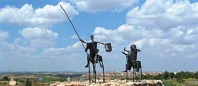 Andalusische Zaungäste: Don Quijote y Sancho Pansa