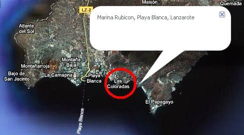 Marina Rubicon - schwer auffindbar im Google earth !