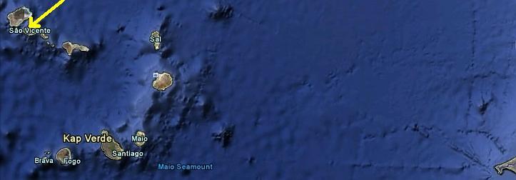 Die Inselgruppe der Kapverden vor Westafrika !