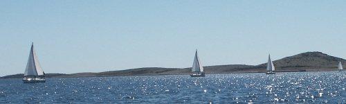 Boote vor Unje